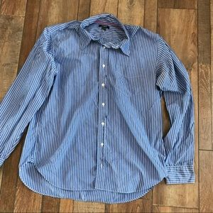 Green label men's J-Crew button down shirt